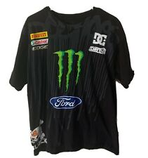 DC Shoes X Ken Block 43 Racing Mens T Shirt Sz L Monster Ford Castrol Edge Rare