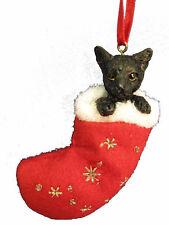 "BLACK CAT ""SANTA'S LITTLE PAL"" STOCKING ORNAMENT"