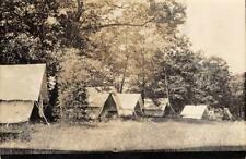 RPPC CAMPING TENTS Summer Camp? Elkhorn, WI 1930 Vintage Postcard