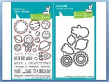 Lawn Fawn Photopolymer Clear Stamp & Die Combo ~ OUT OF THIS WORLD  ~LF1330,1331