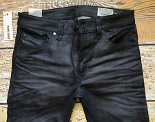 DIESEL D.N.A. JEANS THAVAR in EBONY Size 28x30 Slim-Skinny Made in ITALY $298.00