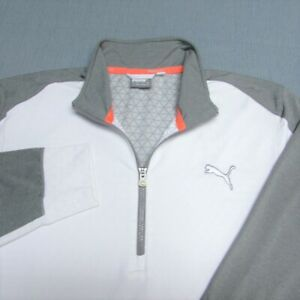 PUMA 1/4 ZIP PWRWARM POLY SPANDEX GOLF PULLOVER--L--CAT--SPOTLESS CLEAN QUALITY!