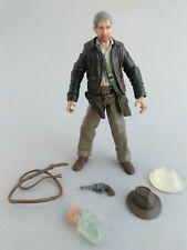 Indiana Jones 1/18 action figure 2007 Hasbro KOTCS complete hat, skull, relic