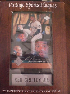 Ken Griffey Jr. UPPER DECK Vintage Sports Plaques 4x6 HALL OF FAME!!