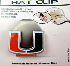 PAC Golf Hatclip w/ Ballmark Ball MarkBallmarker NCAA Miami Hurricanes