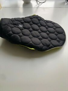 black waterproof dog coat