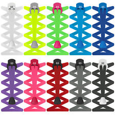 55 Sport Flat Elastic Lock Shoelaces Running & Triathlon Trainer Laces Footwear