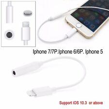 IPhone 7 7 plus Écouteur Casque Adaptateur Lightning vers câble 3.5 mm Audio AUX