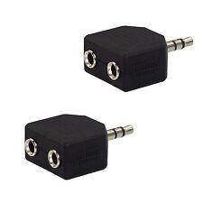 2 x Kopfhörer Verteiler Adapter Klinke 3,5mm Doppelstecker Audio Splitter