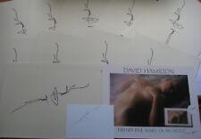 DAVID HAMILTON Photo + carte téléphonique Signed Signée Autograph signature autographe