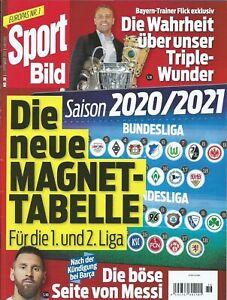 Sport BILD Nr. 36 v. 2. September 2020 - Zeitschrift OHNE Magnettabelle
