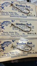 lot of 3 Vintage Weller Weedless Hooks Circ 1950`S To Early 1960`S