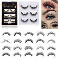 6Pcs/set Mink Short False Eyelashes Hand-made Fake Eye Lashes Makeup Natural USA