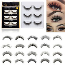 6Pcs/set Mink Short False Eyelashes Hand-made Fake Eye Lashes Makeup Natural USA