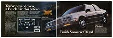 1985 BUICK Somerset Regal Vintage Original Print AD Black car photo 2 page EN CA