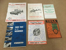 Vintage Woodworking Tool Catalogues - Myford, Coronet, Arundel, Toga