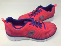 NEW! Skechers Youth Girl's EQUALIZER Lace Up Shoes Pink/Purple #81794L* 175T az