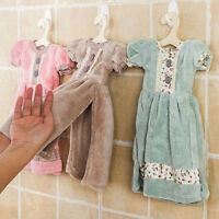 HK- Water Absorbent Coral Velvet Dress Bathroom Kitchen Wall Hanging Hand Tower
