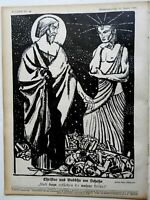 Jesus & Buddha rare issue Jugend Magazine 1904 Jugenstil Art Nouveau graphics