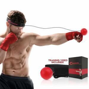 Champs Boxing Reflex Ball Boxing Equipment Fight Speed, MMA Boxing Gear Pro Punc
