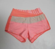 Lululemon Women's Astro Short Color Orange Pink & Beige Size 4 Stretch