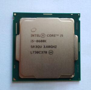Intel Core i5 8600K 3.60GHz 9M Cache 6-Core CPU Processor SR3QU LGA1151 95W Tray