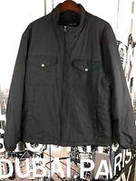 MEN'S NAUTICA COAT JACKET Full Zip Puffer Water Resistant Black $198 Size XL