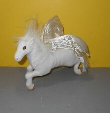 2006 Sababa Toys Dragonology Poseable White Pegasus Horse Plush Toy 10""