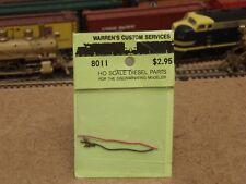 Warren's Custom Services HO Brass MU Brackets & Hoses? 8011