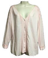 ZARA Pink Cotton Tunic Pintuck Top Shirt Loose Grunge Blogger Oversized S 12/14