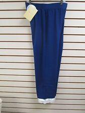 QVC ANYBODY LOUNGEWEAR Blue with Ribbon & Lace Lounge Pants, Size 3X - NWT