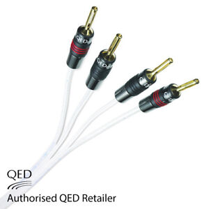 QED Silver Anniversary XT Bi-wire Cable 2+4 AIRLOC Forte Plugs Fitted 1 x 1.5m