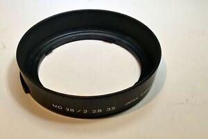 Minolta MD 28mm f2.8 f3.5 Lens Hood Shade for 49mm rim