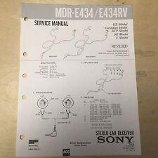 Sony Service Manual for the MDR E434 E434RV E444 E444V Headphones ~ Repair