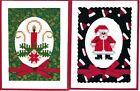 Handmade CROSS STITCH  CHRISTMAS CARDS #CX-E--Lot of 2