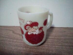 Vintage 1980 Anchor Hocking Raspberry Tart Strawberry Shortcake Mug