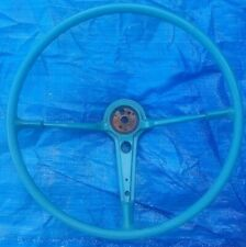"NICE ORIG. 18"" GREEN STEERING WHEEL CHEVROLET BELAIR 1955 1956 CHEVY 55 56"