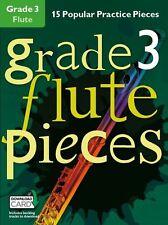 Grado 3 FLUTE Pezzi Impara a giocare grafico HITS MUSICA Exam BOOK & Download Card