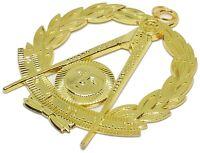 Masonic Collar Grand Past Master Jewel Gold Freemason Mason 001