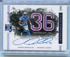 2016 Impeccable Ameer Abdullah Impeccable Stats Auto SP 1/36 Lions *1st One Made
