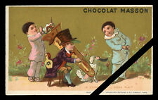 French Victorian Trade Card: Antique Chocolat Masson - Clown - Early 1900's