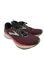 Brooks Women's Pink/Black Ghost 11 Lace Up Running Shoes Sz 10