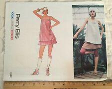 VINTAGE 1980's VOGUE AMERICAN DESIGNER PERRY ELLIS PATTERN TOP AND SKIRT SIZE 12