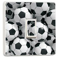 3d Footballs boys bedroom soccer photo lightswitch cover sticker (12420885)