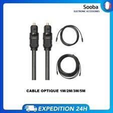 Cable optique TV fibre audio et numérique 1M/2M/3M/5M Male vers male TOSLINK