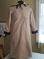 VTG London Fog Maincoats Long Belted Cape Top Classic Trench Coat Womens 6 Petit