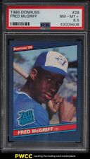 1986 Donruss Fred McGriff ROOKIE RC #28 PSA 8.5 NM-MT+