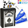 BICYCLE PRESTIGE 100% PLASTIC PLAYING CARDS DECK BLUE STANDARD INDEX USPCC NEW