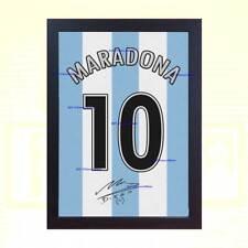 Diego Maradona década firmado autógrafo impreso En Lona Enmarcado de 100%  algodó. d865ec6d952b7