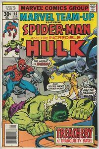 Marvel Team-Up #54 FN 6.0 Spider-Man and The Incredible Hulk, John Byrne art